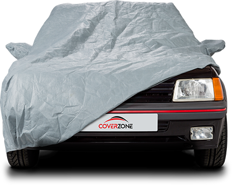 Stormforce Waterproof Car Cover - Part covered Peugeot 205