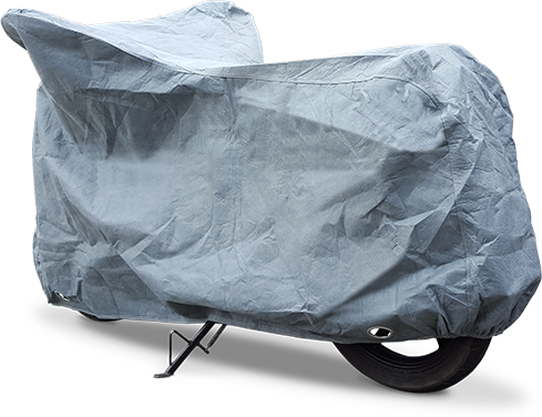 Stormforce Motorcycle cover, 3/4 view rear
