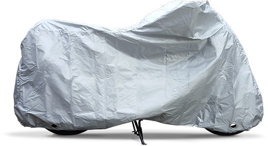 Voyager Motorbike cover, side view