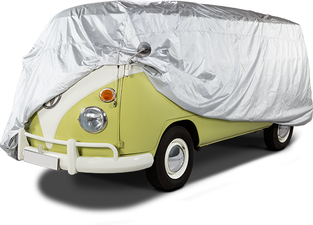 Voyager water resistant car cover - Part covered VW Camper